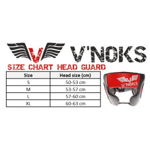 V`Noks Potente Red Head Guard size XL