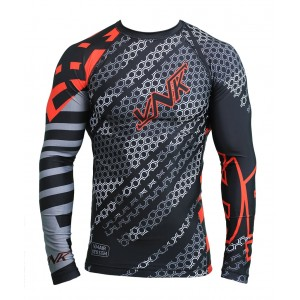 VNK Contact Rash Guard Red with long sleeve size S
