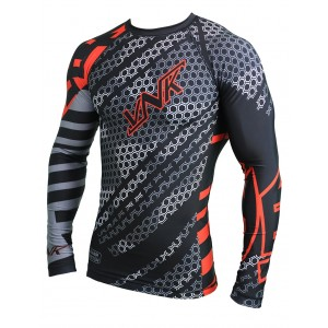 VNK Contact Rash Guard Red with long sleeve size XL