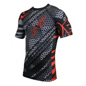 VNK Contact Rash Guard Red with short sleeve size XL