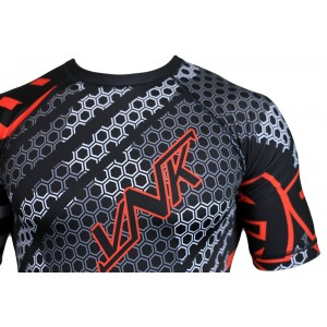 VNK Contact Rash Guard Red with short sleeve size M