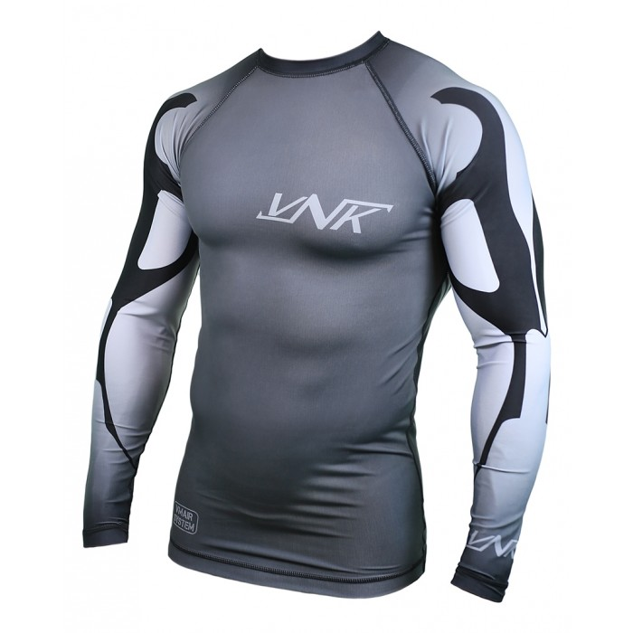 VNK Scath Rash Guard Grey with long sleeve size L