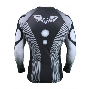 VNK Scath Rash Guard Grey with long sleeve size S