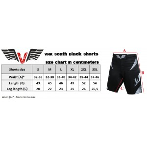 VNK Scath Shorts Black size XL
